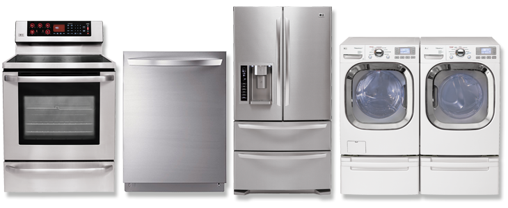 used washer, dryer, stove, refrigerator